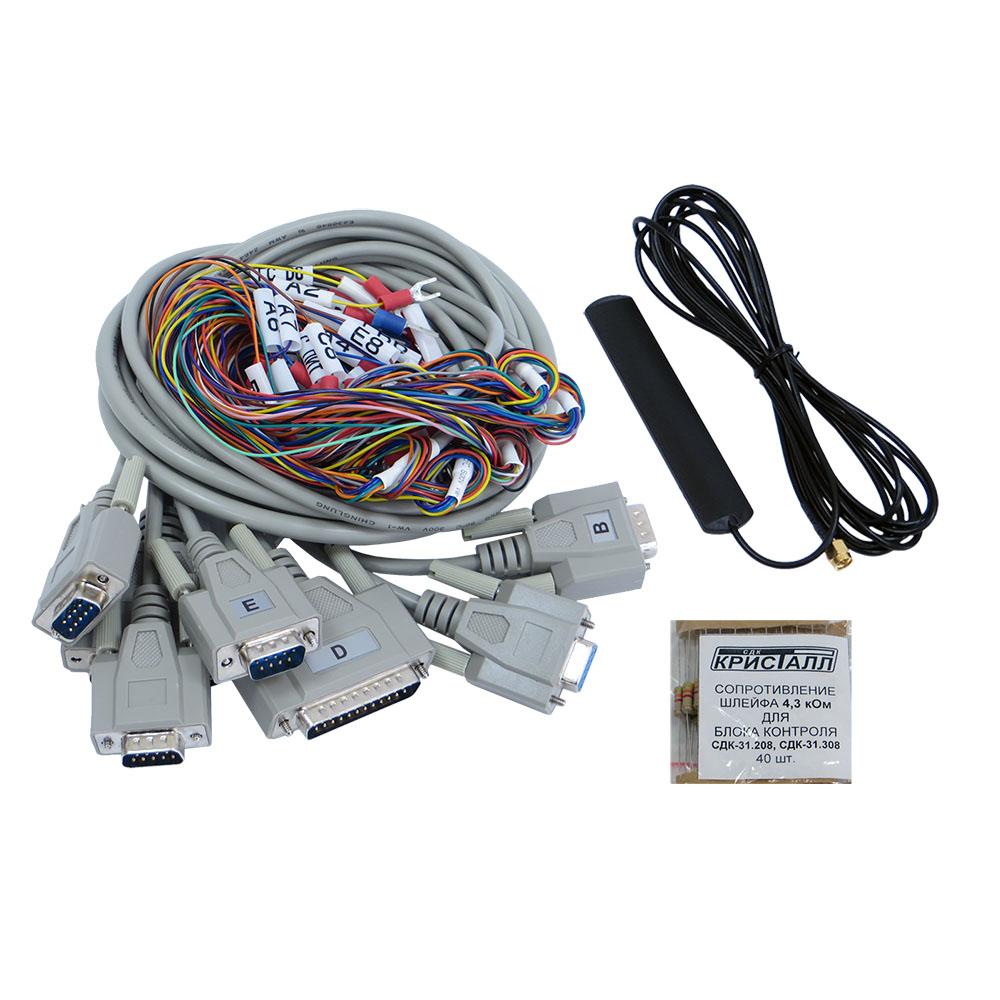 Кабели, резисторы, антенна для СДК-31.x08GSM