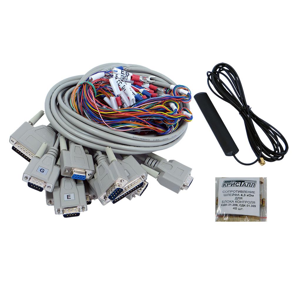 Кабели, резисторы, антенна для СДК-31.x09GSM
